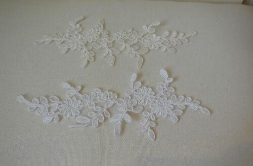 Bridal wedding ivory or white floral lace applique shoes lace motif is for sale