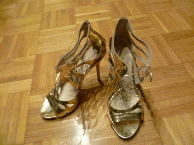 Guido Maria Kretschmer High Heel Heels Sandalette metallic gold Gr. 40 aktuell