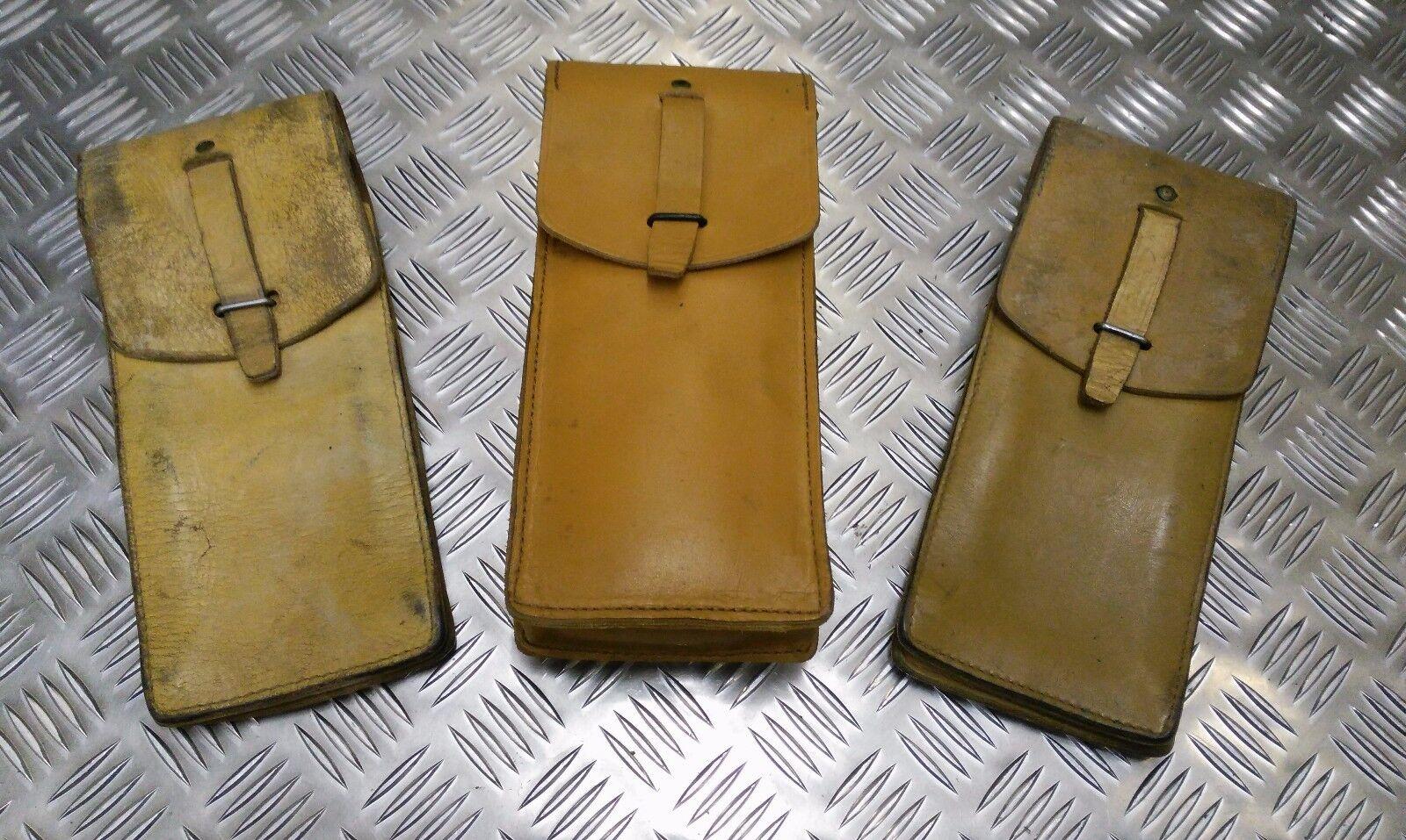 Vintage 1960s/1970s long leather utility/tool bag light tan brown-show original title