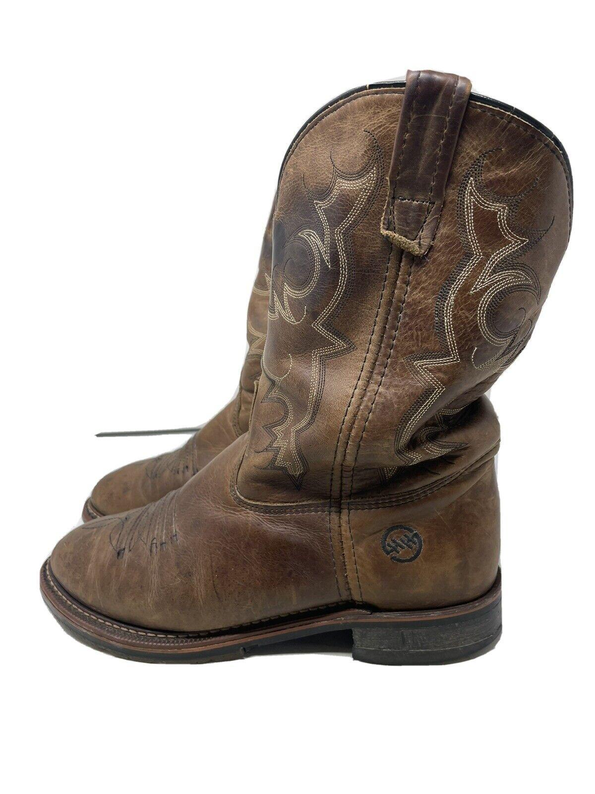 Double H DH3595 Men Brown Roper Boots Size 9.5 D