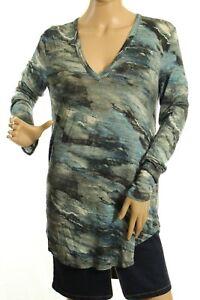 Womens dettaglio Karen a lunga Womens Kane taglia Blue V Knit manica L scollo con OTwTq4