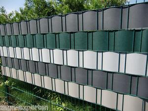 Feste Kunststoff-Sichtschutz-Streifen Anthrazit für Gittermattenzäune Zaun Tor