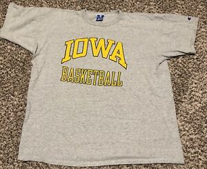 554ef032fc8 Image is loading Vintage-Iowa-Hawkeyes-Basketball-Champion-Shirt-Made-in-