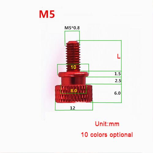 Hohe Form M5 Aluminiumlegierung Rändelschrauben Rändelschraube Handschraube