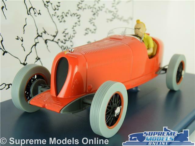 TINTIN LE BOLIDE red MODEL CAR 1 24 SCALE IXO HACHETTE BUGATTI RACING LARGE K8