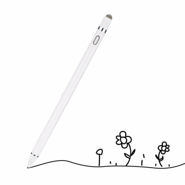 Touchscreen Stylus Digital Pen Ultra Fine Tip For iPhone iPad Android Use White