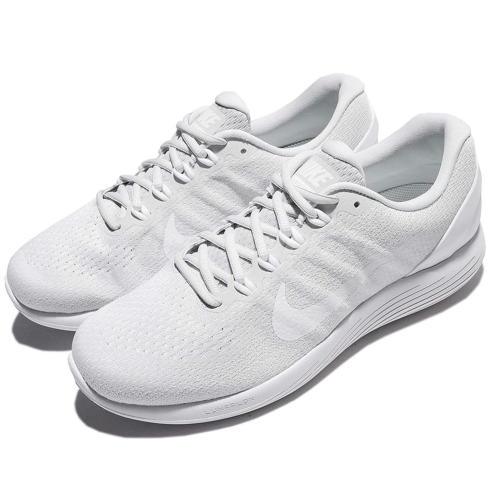 Nike Lunarglide 9 IX Platinum Blanc Men Running Chaussures Baskets 904715-003