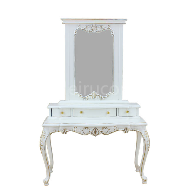 Doll Miniature Furniture 1 6 Th Collection White Hand Gilt Dressing Table Mirror