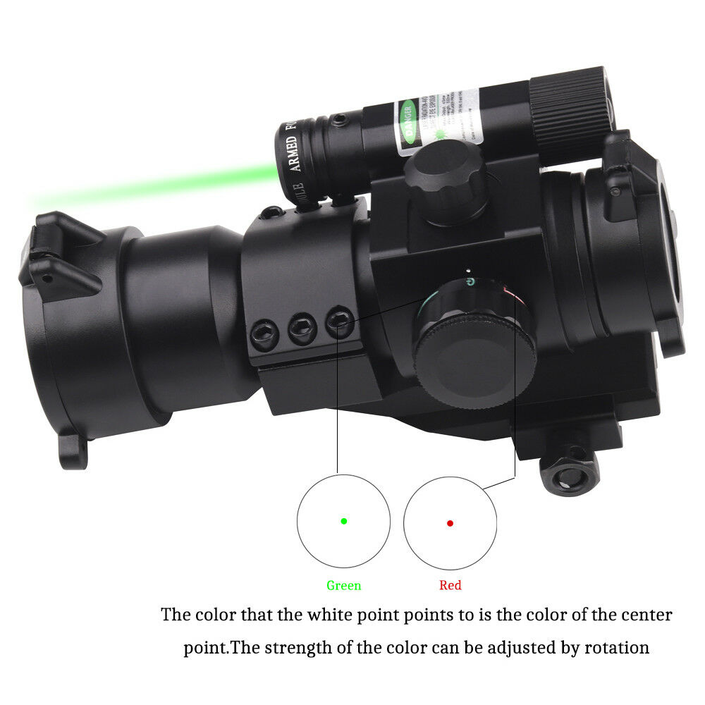 Tactical 1X30 Red Dot Optical Sight Laser Reflex Holographic Scope With Green