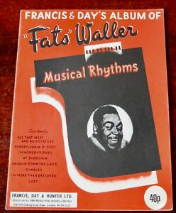 ALBUM OF FATS WALLER MUSICAL RHYTHMS SHEET MUSIC BOOK ...