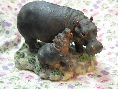 HIPPOPOTAMUS BY F CHURCH ANTIQUE 1890 ENGRAVING THE NEW BABY HIPPOPOTAMUS S