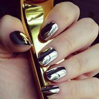 1 Box Gold Sliver Nail Glitter Powder Shinning Nail Mirror Powder Makeup Art DIY