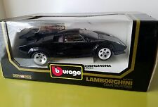 bburago BURAGO DIE CAST metal 1988 LAMBORGHINI 1/18 COUNTACH black in box