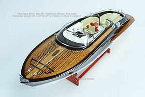 "Riva Rama 25"" - Handmade Wooden Classic Boat Model"