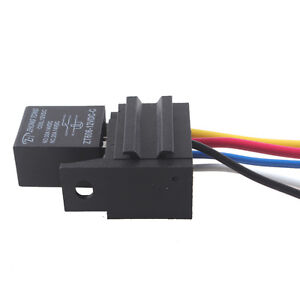 car 30a amp 12v relay kit for electric fan fuel pump horn 5pin 5image is loading car 30a amp 12v relay kit for electric