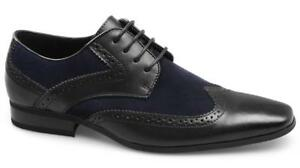 Peter Werth Chisel Point Wingtip Hombre Zapatos Negro 8MYINL9Ukb