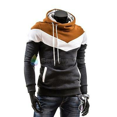 New Men Winter Slim Hoodie Warm Pullover Sweatshirt Hooded Coat Outwear Sweater