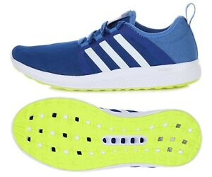 on sale f4fe8 f8364 Image is loading Adidas-Men-Fresh-Bounce-Training-Shoes-Blue-White-