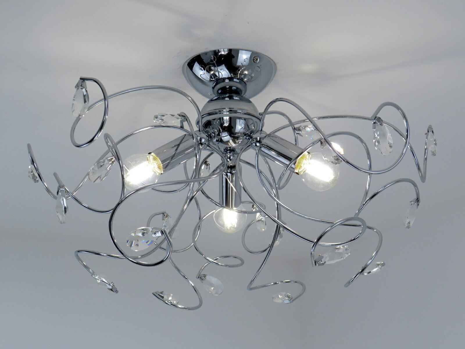 Plafoniere Da Camera : Lampadario plafoniera moderna con cristalli