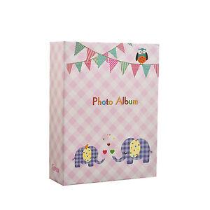 Small-Baby-Girl-Pink-Slip-In-Photo-Album-100-6x4-039-039-Photos-Elephant-Kids-BA-9777