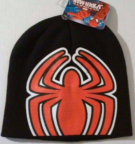 Avengers Spiderman Knit Cap Black Winter Kids Beanie Hat NWT Boys Marvel