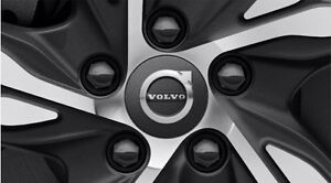 Genuine Volvo Black Wheel Center Cap Set OE OEM 30666913