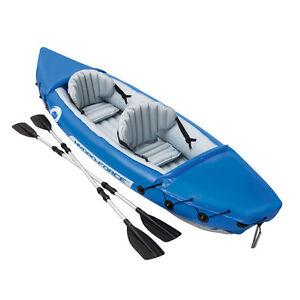 Lite rapid inflatable sea kayak canoe boat for kayaking fishing double