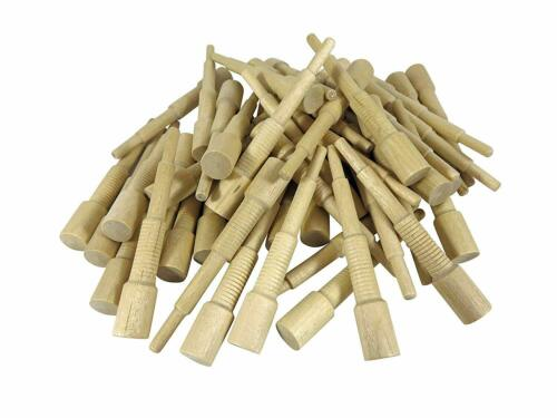 """Miller Dowel Pack 100 Each 1x Stepped Birch Dowels for Stock up to 1/"""" Thick"""
