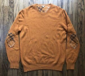Burberry-Brit-Mens-Long-Sleeve-Elbow-Nova-Check-Crewneck-Sweater-Size-2XL