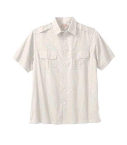 NEW Boulder Creek Mens Linen Pilot Button Shirt 79-5418-3 stone white 3XL Tall