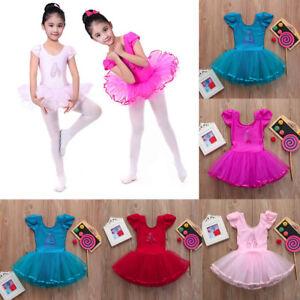 785bf12461f8 Toddler Girls Gauze Leotards Ballet Bodysuit Dancewear Dress Clothes ...