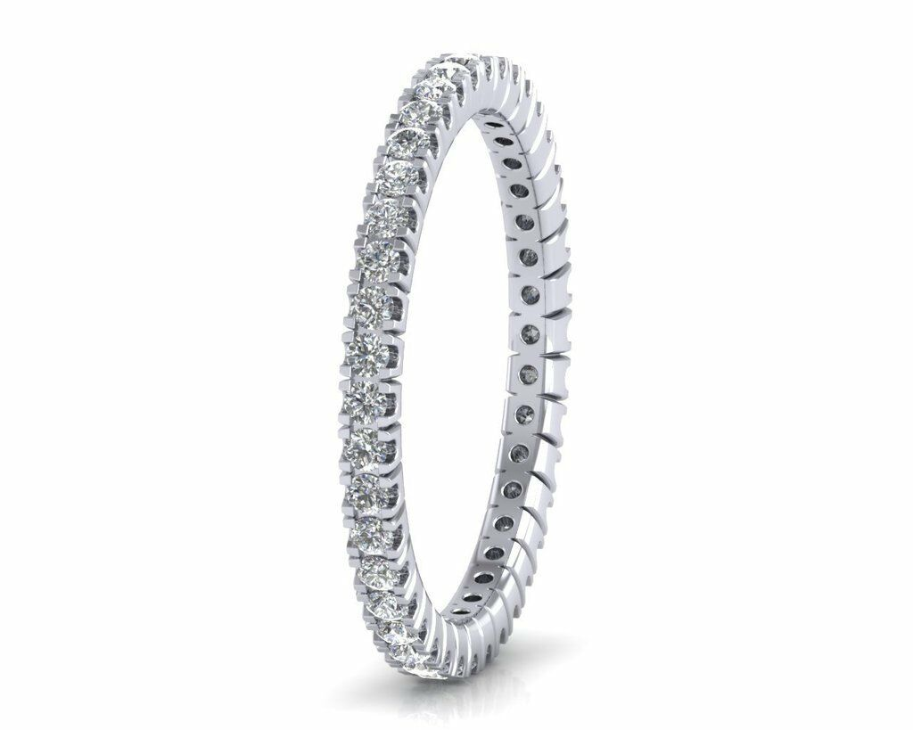 0.55ct Round Brilliant Cut Diamonds Full Eternity Wedding Ring in 9K White gold