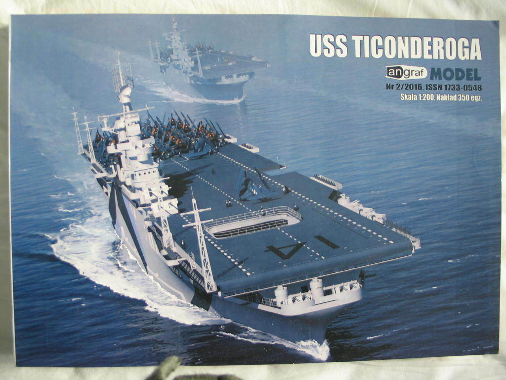 1 200 US WWII aircraft carrier USS Ticonderoga (CV-14)  paper model