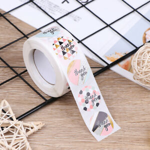 500pcs-roll-Pink-plaid-Stickers-for-seal-label-Sealing-decoration-StickerWFIT