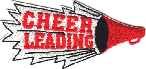 "Spirit, Games Iron On Embroidered  Patch //Sports /""CHEER LEADING/"" w//HORN"