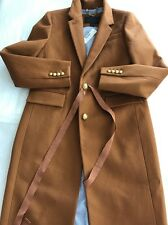 New J.Crew Collection Size 2 Wool Cashmere Pecan Brown Olivia Ribbon Coat F7077