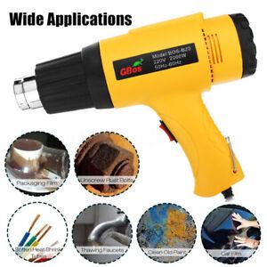 2000W 220V Electric Heat Gun Adjustable Hot Air Heating Tool+Nozzle Power Heater