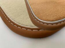 Fußmatten-Satz für Mercedes SL R107 SLC C107 Velours dunkelbraun Echtleder-Band