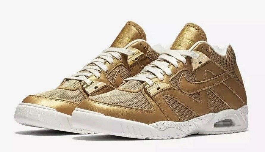 Nike MEN S Air Tech Challenge Challenge Challenge III 3 WIMbleDON Metallic guld Storlek 10.5 RARE  vi tar kunder som vår gud