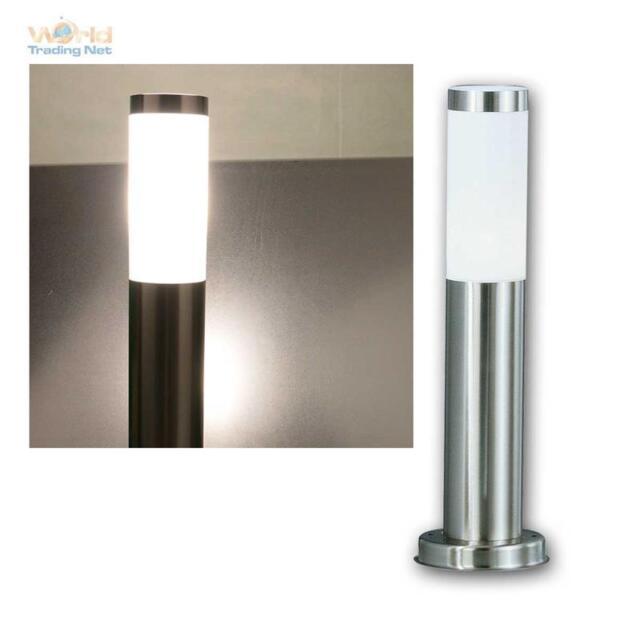 2x LED Veranda Stand Lampen Edelstahl Steh Leuchten Außen Garten Weg Beleuchtung