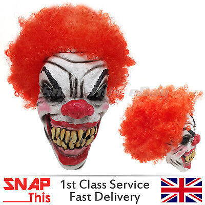 Clown Mask Red IT Nose Cosplay Latex Face Horror Adult Halloween Party Killer