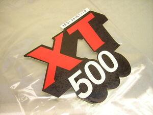 Details Zu 1x 4e5 24161 10 Alu Tank Dekor Xt500 Schriftzug Aufkleber Sticker Graphic Emblem