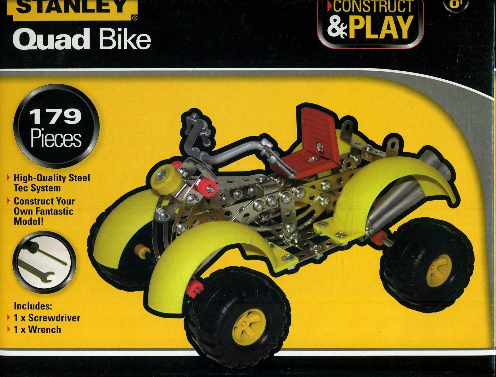 NEW - Stanley Construct & Play Quad Bike 179 Piece Set