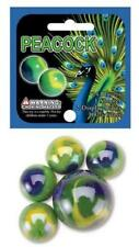 Mega Marble PEACOCK MARBLE NET 24 Player Marbles & 1 Shooter Marble