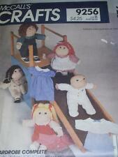 "McCALL'S 9256-16"" SOFT SCULPTURED DOLL DRESS-PAJAMAS-OVERALLS-PINAFORE PATTERNuc"