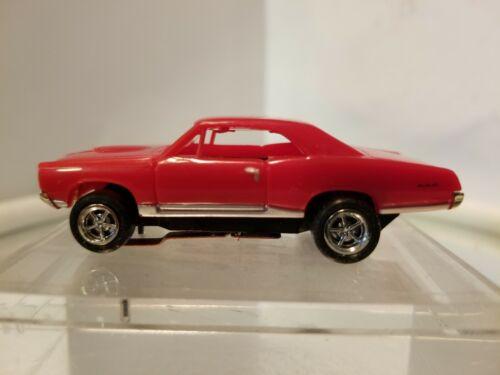67 GTO Pontiac Red  MoDEL MoToRING HO scale slot car T-jet Custome Wheels