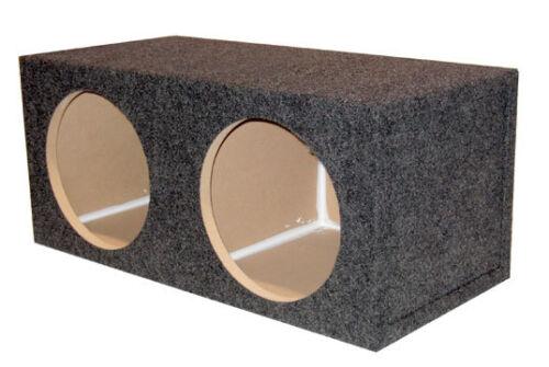 "15/"" Sealed 3//4/"" MDF Dual Subwoofer Speaker Box 1.75 Cu Ft Air Space 770-15"