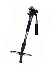 Koolehaoda Professional Camera Aluminium Monopod Fluid Video Head with Folding T
