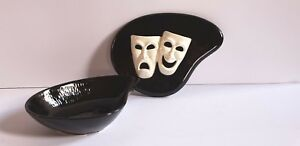 Art Deco Comedy-tragedy Art Deco Ceramic Novelty Dish By Sarsaparilla/5 & Dime Japan Invigorating Blood Circulation And Stopping Pains Periods & Styles