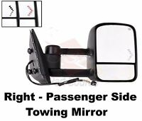Sierra Power Heated Telescopic Signal Lamp Upgrade Tow Mirror Right Passenger